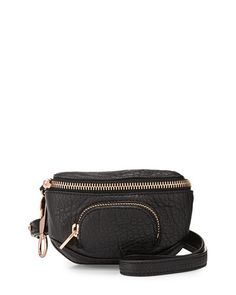 ALEXANDER WANG Alexander Wang Dumbo Pebbled Leather Belt Bag, Black. #alexanderwang #bags #leather #belt bags #lining #