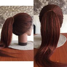 Braided Wig (Lace Front) - Micro Twists (Color 30/35) - Ready to Ship #braids #naturalhair #hair #braids #wigs #braidedwigs