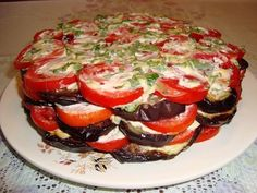 Тортик из баклажанов