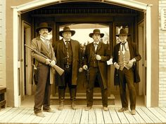 Earp brothers with Doc Holliday. Earp brothers with Doc Holliday. Holiday Pictures, Old Pictures, Cowboy Pictures, Vintage Pictures, History Photos, History Facts, Earp Brothers, Wild West Outlaws, Westerns