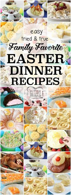 Easter Dinner Recipes: tried and true easy Easter dinner recipes with everything from slow cooker ham to Orange Cream Fruit Salad, Banana Cream Pie Cookies, Pecan Grape Salad and more. All the Easter dinner recipes you need for a delicious, festive holida Easter Dinner Recipes, Holiday Recipes, Sides For Easter Dinner, Easter Dinner Ideas, Easy Easter Recipes, Holiday Snacks, Grape Salad, Fruit Salad, Easter Lunch