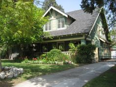 1912 Bungalow, Pasadena, CA - paint colors: muted turquoise and putty