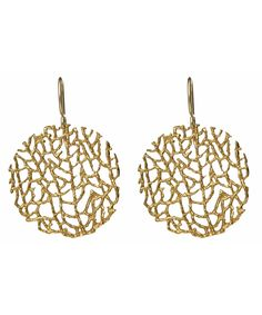 Catherine Weitzman Gold Coral Reef Earrings