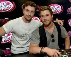 Aaron Taylor-Johnson and Chris Hemsworth