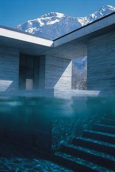 Peter Zumthor. Vales. Switzerland Bath House.