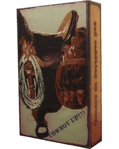 """Saddle Up Spiritile by #HoustonLlew includes the quote: """"Courage is being scared to death and saddling up anyway."""" - John Wayne"""