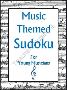 Not Your Regular Music Page. Piano Lessons, Music Lessons, Sudoku Puzzles, Music Words, Music Page, Music Worksheets, Elementary Music, Music Therapy, Music Classroom