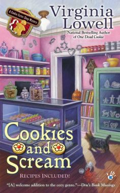 Cookies and Scream (A Cookie Cutter Shop Mystery) by Virginia Lowell,http://www.amazon.com/dp/0425260704/ref=cm_sw_r_pi_dp_fyX0sb191N0S7NPX