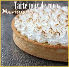 Une tarte à la noix de coco meringuée. Une fabuleuse tarte facile avec cette garniture coco. Surmonté de sa meringue, elle est crémeuse et bien