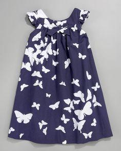 Tartine et Chocolat Butterfly-Print Dress