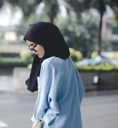 clothes, glasses, and hijab image