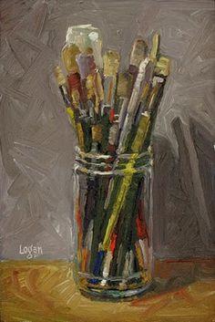 """Brush Jar"" - Original Fine Art for Sale - © Raymond Logan"