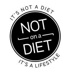 Traduction : ce n'est pas un régime, c'est un mode de vie.