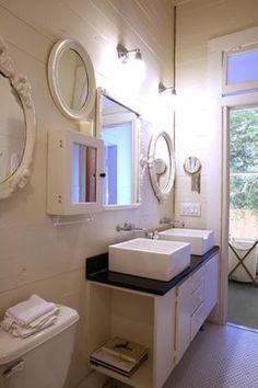 Greensboro House - Modern - Bathroom - New York - Coggan + Crawford Architecture + Design....look at the mirrors here