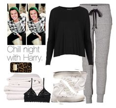 """""""Chill night with Harry."""" by fireproofnarry ❤ liked on Polyvore featuring Current/Elliott, Brahms Mount, Topshop, Michael Kors, Converse, Monki and harrystyles"""