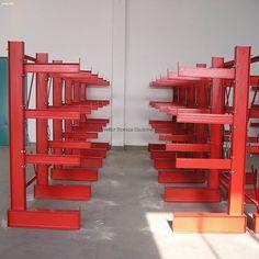 Steel Storage Rack, Metal Storage Shelves, Steel Racks, Shop Storage, Marcel Breuer, Cantilever Racks, Power Tool Storage, Lumber Rack, Hinge And Bracket