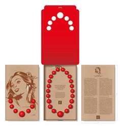 What a bold way to make a statement with your jewelry. (Małopolska's Red Corals box by Studio Otwarte) Jewelry Packaging, Box Packaging, Necklace Packaging, Custom Packaging, Creative Box, Packaging Design Inspiration, Box Design, Silhouette Cameo, Branding Design