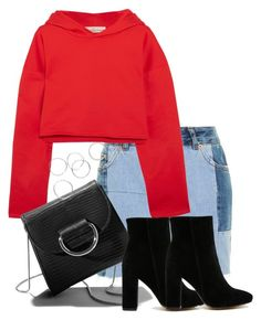 """Untitled #3884"" by theeuropeancloset ❤ liked on Polyvore featuring Topshop, Golden Goose, Little Liffner, Public Desire and PDBAE"