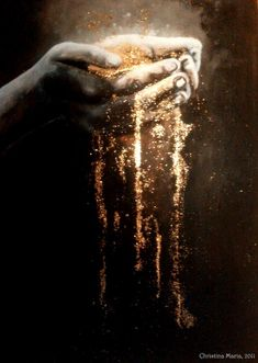 lohrien:Gold Dust by ~Christina Maria Listen to what Mother Earth has to tell She holds all the answers. ~ Charlotte (PixieWinksFairyWhispers)