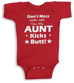 Lil Shirts Aunt Baby Bodysuit