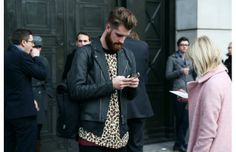 Leather jacket and print