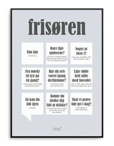 Frisøren 50x70 Danish Language, Qoutes, Haha, Singing, My Favorite Things, Learning, Sayings, Memes, Languages