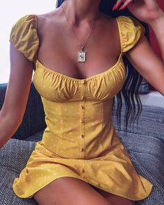 Buy Our Kansas Dress in Yellow Online Today! Buy Our Kansas Dress in Yellow Online Today! - Tiger Mist Buy Our Kansas Dress in Yellow Online Today! Cute Dresses, Casual Dresses, Cute Outfits, Summer Dresses, Maxi Dresses, Awesome Dresses, Yellow Mini Dresses, Work Outfits, Yellow Dress Casual