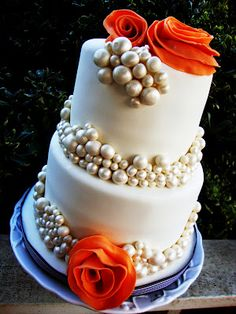 GLAMOUR & PEARLS  My Mother-in-Law's 59th Birthday Cake created in February 2012