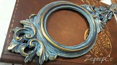 zeynepce Picture On Wood, Picture Frames, Rope Decor, Patina Color, Painted Ornaments, Idee Diy, Oval Frame, Mirror Work, Hand Art