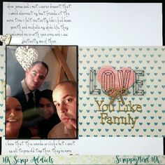 UK Scrap Addicts: Love You Like Family | Journalling | ScrappyNerdUK (Claire)