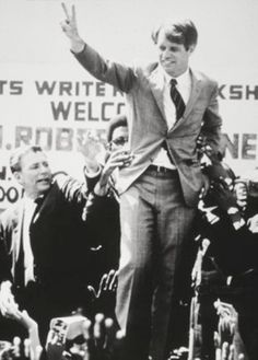 Senator Robert Kennedy campaigning.~~The Robert F. Kennedy presidential campaign began on March 16, 1968.U.S. presidential election,★★★★★★★★★★★★ http://en.wikipedia.org/wiki/Robert_F._Kennedy_presidential_campaign,_1968
