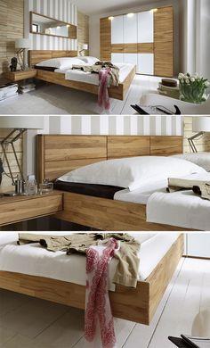 Komplettes Schlafzimmer in einem Look gestalten. Massivholzmöbel mit langer Lebensdauer. #massivholz #modern #möbel #stabil http://www.betten.de/modernes-komplett-schlafzimmer-kernbuche-rosso.html