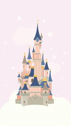 Walt Disney land Disneyland Disney world Cinderella castle fan art sketch illustration drawing Disney Magic, Disney Love, Disney Disney, Cute Disney Wallpaper, Wallpaper Iphone Disney, Chateau Disney, Disney Mignon, Templer, Disney Wallpaper