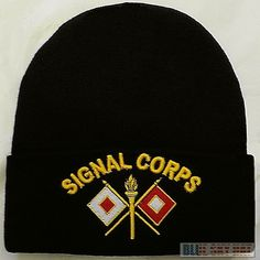 2380729f Details about U.S. UNITED STATES ARMY SIGNAL CORPS USASC WINTER KNIT BEANIE  WARM WATCH CAP HAT