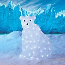 polar bear w led lights holiday seasonal yard decor outdoor christmas display - Outdoor Polar Bear Christmas Decorations