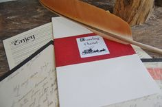 Hand-cut feather quill with which to pen a love letter...