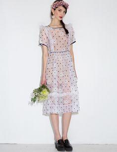TBA Floral Silk Midi Dress - Pretty Silk Dress  -
