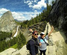 Beauty does exist on Earth. You just have to be Adventurous to find it! Late post #throwbackthursday #yosemite #nevadafalls #vernalfalls #campingadventures #hiking #bestfriends #misfits by ducky_32