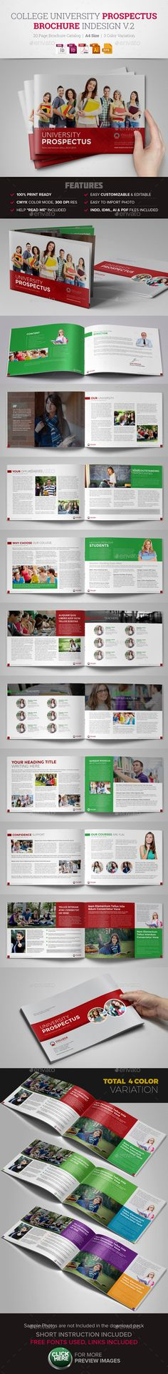 Portfolio Brochure Indesign Template V3 | Template, Vs And V3