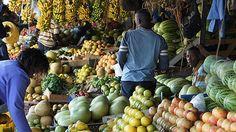 Variety of fruits and vegetable at a market place near Agha Khan Hospital in Nairobi, Kenya, Africa. Photo credit: Nicholas Obara, ONE member.
