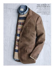 The Always in style Fair Isle... classic made famous by the Duke of Windsor