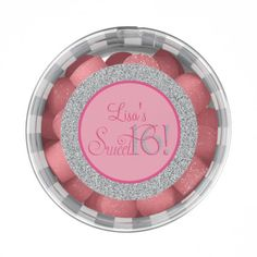 Glitter, Sweet Sixteen Party Favors, Chewing Gum