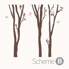 Birch Tree with birds wall decal - Pinknbluebaby.com | Pinknbluebaby