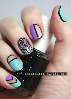 Gorgeous geometric nail art