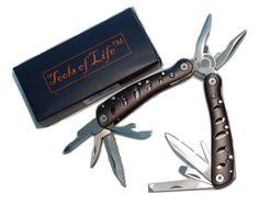 Tools of Life (TM) Multitool Deluxe Black-Multi Tool Pouch Folding Hand Tool, Multifunction, Multipurpose Survival Tool with Gift Box >>> More info could be found at the image url.