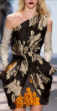 Vera Wang. Love these colors together. I want to paint this, pale gold, coffee, brown and a splash of orange !