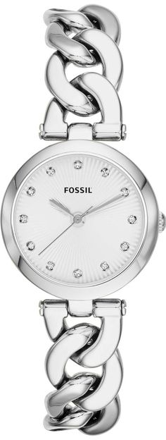Olive Three-Hand Stainless Steel Watch #ES3390