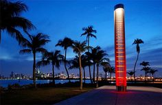 South Beach Miami, Photos Voyages, Tower, Spaces, Park, Night, Travel, Florida, Rook