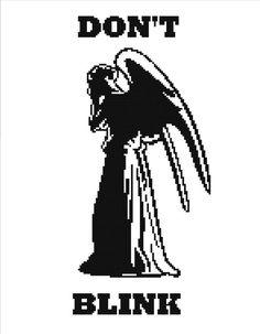 Don't Blink Cross Stitch Pattern PDF by HappyCupcakePlush on Etsy, $5.00