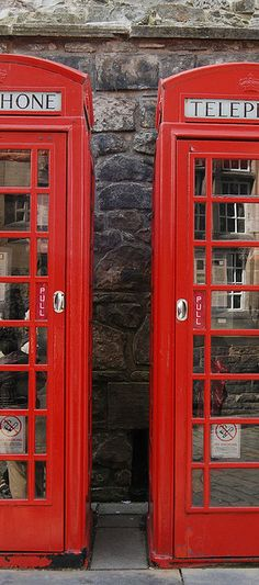 Love these telephone boxes! Britain Uk, Great Britain, England And Scotland, Edinburgh Scotland, Telephone Booth, London Calling, Best Cities, British Isles, Westminster